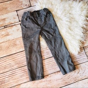 The Children's Place Gray Skinny Moto Pants - 3T